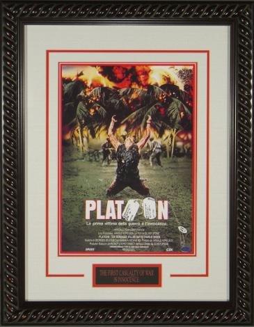 Platoon 20x28 Masterprint Movie Poster Custom Rope Framing Oliver Stone, William Dafoe, Tom Berenger, Charlie Sheen