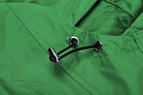 Sportivo Verde begorey Ciclismo Verde Giacca Corsa Cappotto Nero Manica Softshell Donna Leggero Viola Outdoor con Pesca lunga Cappuccio rETEqz