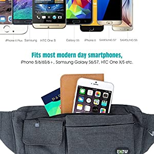 EOTW Fanny Belt Pack Bag Travel Waist Pocket Pouch Sports Cell Phone Passport Holder Workout Running Belt Pack Outdoor Money Belt For iPhone 7 6S 6 Plus Galaxy S6 S4 S5 S7 Edge Note 5 4 3 LG G3 G4 G5