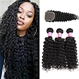 Best Hair Bundles With Free Parts - Malaysian Deep Wave 3 Bundles with Closure 4X4 Review