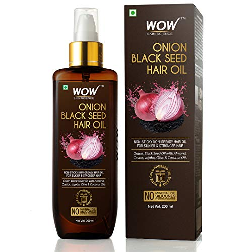 WOW Skin Science Onion Oil – Black Seed Onion Hair Oil – Controls Hair Fall – No Mineral Oil, Silicones & Synthetic…