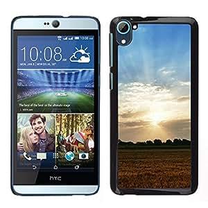 "For HTC Desire D826 , S-type Naturaleza Sunset Campo"" - Arte & diseño plástico duro Fundas Cover Cubre Hard Case Cover"