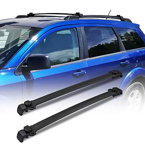 TRIL GEAR Cross Bar Roof Rack Luggage Cargo Carrier Rail Rack for 2009-2018 Dodge ()