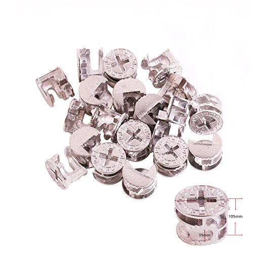 Cam Connector (Eowpower 20Pcs 14.6mm x 11.3mm Furniture Connector Cam Lock Fittings)