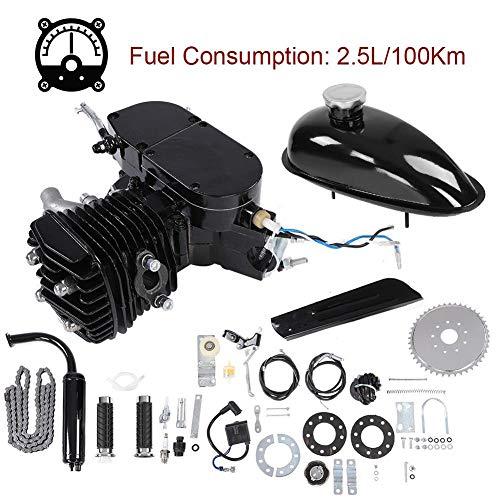 Naroote Kit de Motor de Bicicleta 80CC 2 Tiempos Motor de Bicicleta motorizado a Gas Juego de Bricolaje