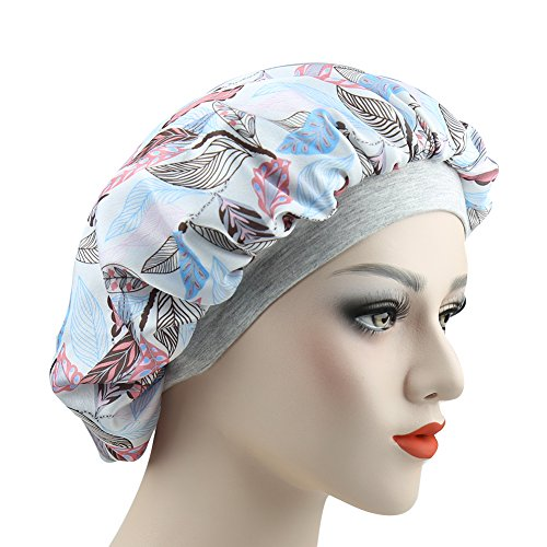Long Hair Sleeping Head Wrap Fashionable Sleeping Cap Girls Silky Satin Bonnet -