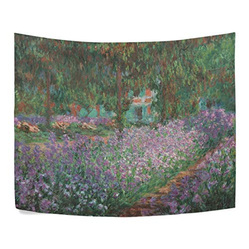 WIHVE Tapestry Monet's Garden Wall Hanging Art Home Decor Polyester Tapestry for Living Room Bedroom Bathroom Kitchen Dorm 60 x 51 from WIHVE
