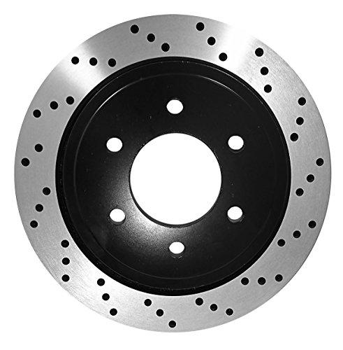 [Rear Premium E-Coat Drill Brake Rotors Ceramic Pads] Fit 07-14 Chevrolet Tahoe - Tahoe Premium Direct Vent