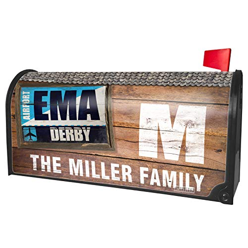 NEONBLOND Custom Mailbox Cover Airportcode EMA Derby -