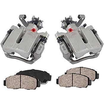 2 OE Rotors + 4 REAR Original Remanufactured Calipers + CCK02561 Low Dust Ceramic Brake Pads 2
