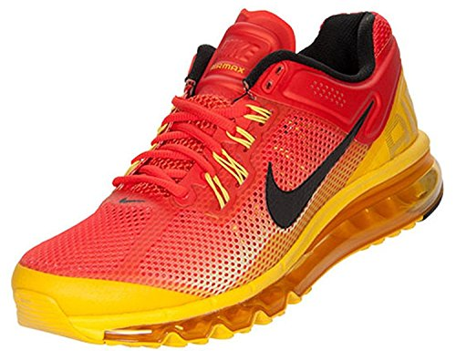 Hommes Air Max + 2013 Sunset, Jaune / Orange / Noir, 579954-807,10.5 M US
