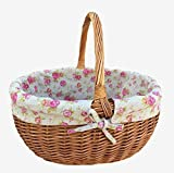 Deluxe Shopping Basket With Rose Lining