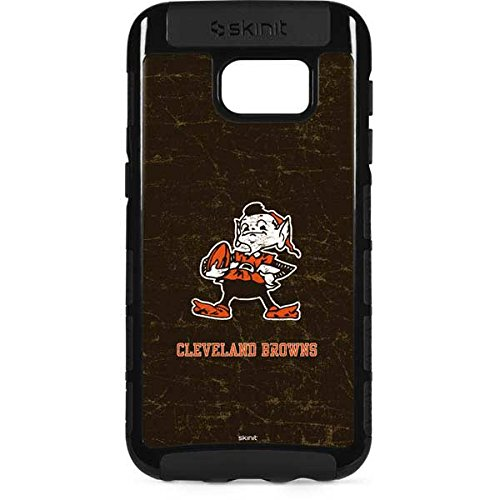 Skinit NFL Cleveland Browns Galaxy S7 Edge Cargo Case - Cleveland Browns Alternate Distressed Design - Durable Double Layer Phone ()
