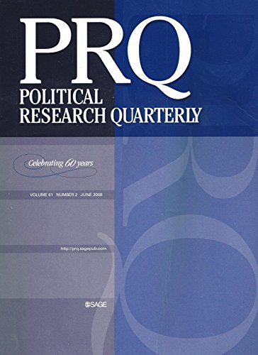 Political Research Quarterly : Influence of Religion on Public Opionion on Foriegn Policy; God's Party; Assessing the Role of Religion on Presidential Approval; Political Attitudes of Multiracial Americans; Techniques in Case Study Research