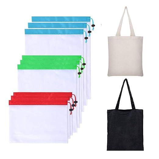 Bolsas reutilizables plegables para comestibles, 2 bolsas de ...