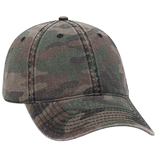 - OTTO 6 Panel Low Profile Camouflage Garment Washed Cotton Twill - Camo 004