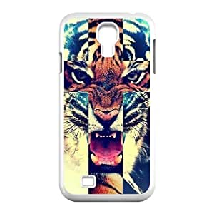 T-TGL(RQ) Personalized Tiger Roar Cross Pattern Protective Hard Case for Samsung Galaxy S4 I9500