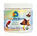 10 Pounds Dog Food - Coconut Oil for Pets - Best Premium Quality, 100% Pure, Certified Organic, Raw, Extra Virgin, Cold-pressed, Unrefined, Natural Coconut Oil for Dogs and Pets