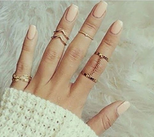6pcs Knuckle Rings - 4