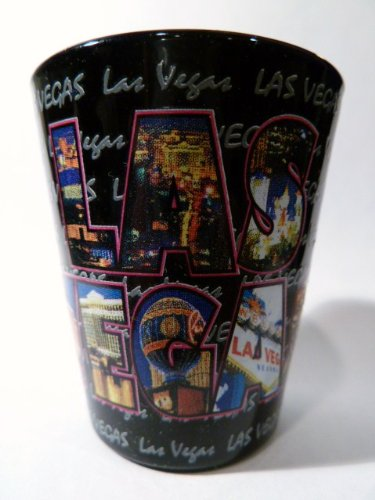 Las Vegas Nevada XL Letters All-around Shot Glass ctm