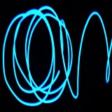 JYtrend(TM) Neon Glowing Strobing Electroluminescent Wires (El Wire) + Controller (Blue 10ft)