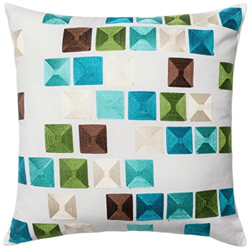 Loloi  Accent  Pillow  DSETP0402ML00PIL1  Multi  Wool  &  Cotton  Cover  with  Down  Fill  18''  x  18'' by Loloi
