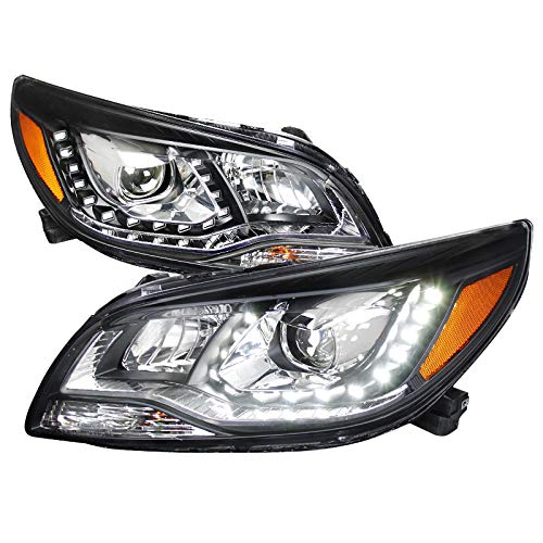 - Velocity Concepts for Chevy Malibu Euro Black Projector Headlights w/White LED DRL Lights
