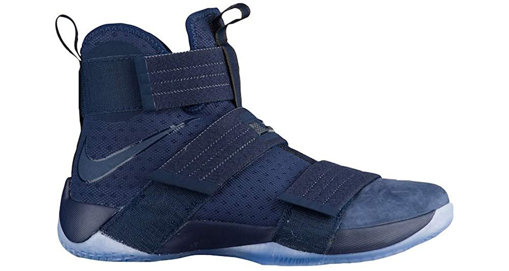 the latest fcd30 461aa Nike Zoom Lebron Soldier 10 SFG 844378-444 Midnight Navy Game Royal Midnight  Navy (12)  Buy Online at Low Prices in India - Amazon.in