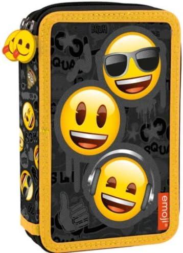 Emoji emojis - Estuche doble para niños (21 piezas, con relleno): Amazon.es: Oficina y papelería