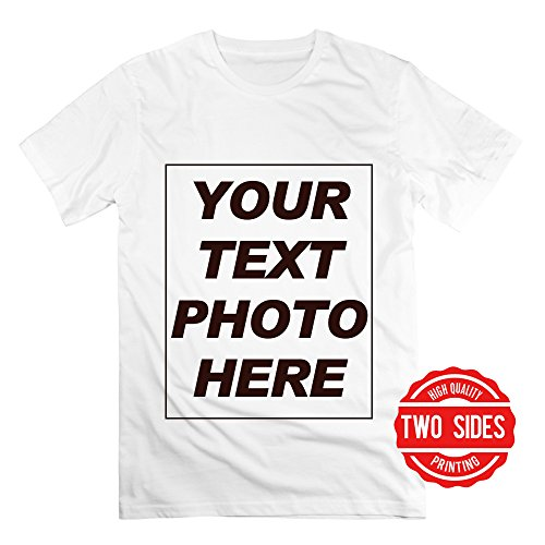 Custom Mens T Shirts Design Your Own Personalized 2 Sides Printed