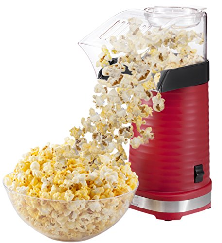 Chefman Air Pop Popcorn Maker, Makes 12 Cups of Oil Free & Healthy Popcorn, FREE Measuring Cup and Removable Lid