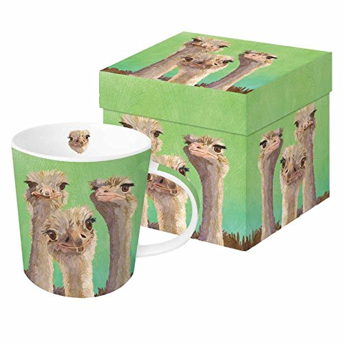 Paperproducts Design PPD 603372 Ostrich Amigos Mug in Gift Box, 13.5oz, Multicolor