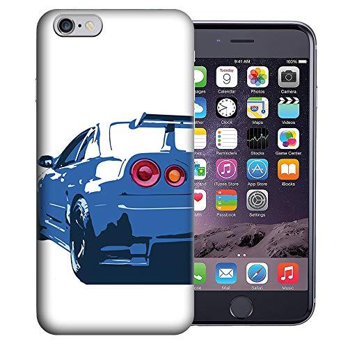 MUNDAZE for Apple iPhone 6 Plus 5.5 Inch UV Printed Design Case - Nissan Skyline GTR R-34 Design TPU Gel Phone Case Cover