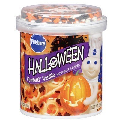 Pillsbury Halloween Funfetti Vanilla Frosting (Pack of 4) by (Pillsbury Halloween Funfetti Frosting)