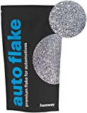 Hemway Auto Flake Glitter FINE 1/64'' 0.015'' 0.4mm 375 microns Paint Additive Metal Flake 100g for use with Car Bike Van Truck Wagon Automotive Spray and Spray Painting (Silver)