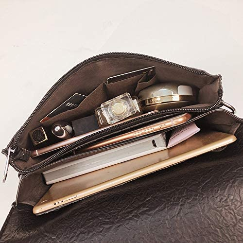 fixiyue Mode-Lady Brieftasche Retro Klassische Scrabble Tasche Brieftasche Student Tasche hundert Schwarz Schwarz