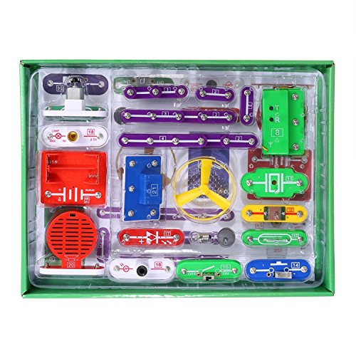 ELSKY Circuits for Kids 335 Electronics Discovery Kit, Circuits Experiments Kit, Smart Electronics Block Kit,Educational Science Kits Toy,Great DIY Building Blocks Electric Circuits Kits for Child by ELSKY