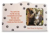 inspiring small kitchen island design  Pet Memorial Picture Frame - Paw Prints on my Heart Poem - In Memory of Cat - In Memory of Dog - Pet Remebrance