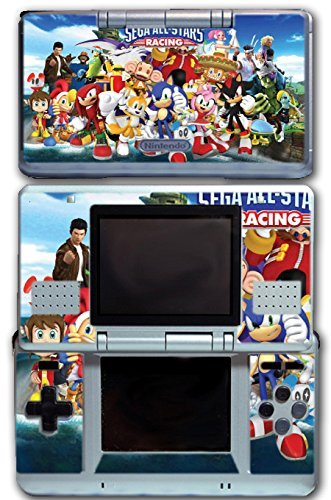 Sega All Stars Sonic Shenmue Knuckles Tails Amy Shadow Eggman Monkey Ball Racing Video Game Vinyl Decal Skin Sticker Cover for Original Nintendo DS System by Vinyl Skin Designs (Sonic And Sega All Stars Racing Tails)