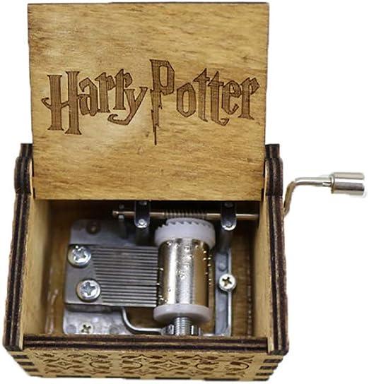 Keep Comfort Antiguo Tallado de Madera Caja de música Harry Potter Regalo año Regalo de cumpleaños Regalo compañero Novia Anime Caja de música: Amazon.es: Hogar