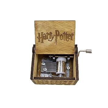 Keep Comfort Caja Antigua Tallada en Madera Caja de música Harry Potter Regalo de año Regalo de cumpleaños Novio Novia Caja de música Anime: Amazon.es: ...