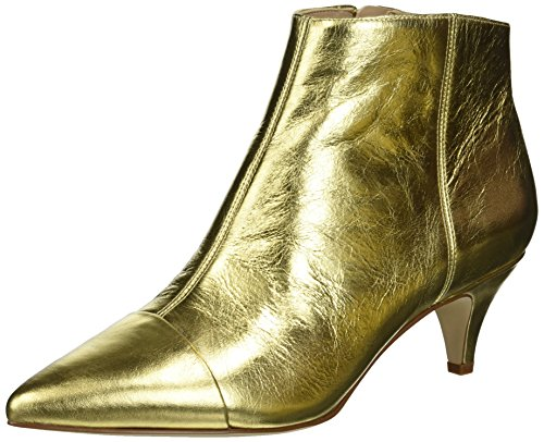 Sam Edelman Women's Kinzey 2 Fashion Boot, Bright Gold/Metallic Distressed Leather, 10 M US ()