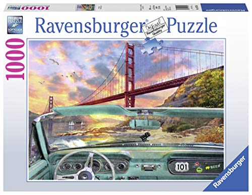 Ravensburger Golden Gate 1000 Piece Jigsaw Puzzle for Adults - Every Piece is Unique, Softclick Technology Means Pieces Fit Together Perfectly