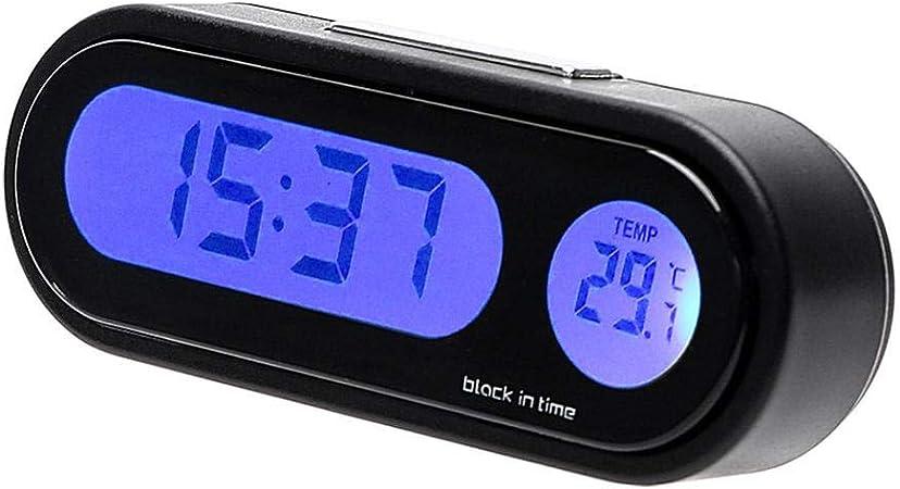 Rungao Horloge Thermomètre Digital sans Fil Intérieur LED Mini 12v Accessoire Voiture