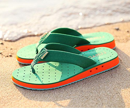 Summerwhisper Heren Coole Ademende Antislip Beachteenslippers Sandalen Slip Groen