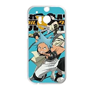 Durable Hard cover Customized TPU case Soul Eater Attack HTC One M8 Cell Phone Case White
