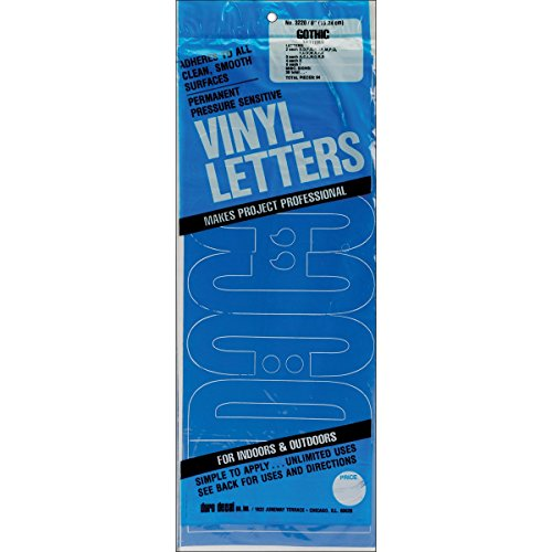 Duro Decal Permanent Adhesive Vinyl Letters & Numbers: 6
