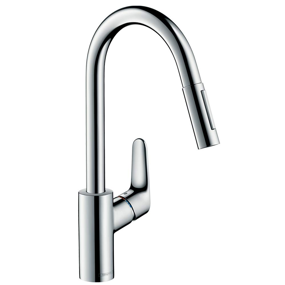 Gut gemocht hansgrohe Focus kitchen tap, pull out spray and 150° swivel range AA68