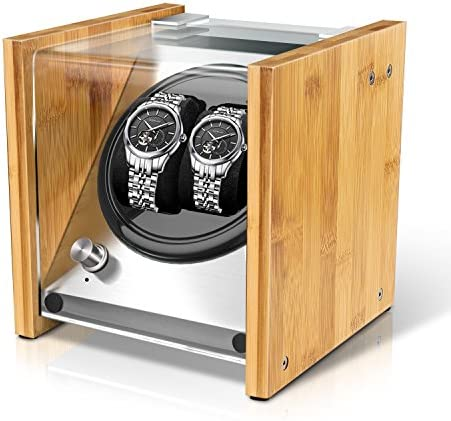 Bamboo Watch Winder Double for Automatic Watches through Watch Winder Smith