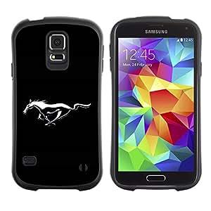 LASTONE PHONE CASE / Suave Silicona Caso Carcasa de Caucho Funda para Samsung Galaxy S5 SM-G900 / Mustang Wild Horse